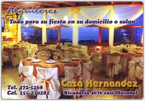Casa Hernandez - Mar del Plata - Alquileres vajilla sillas ...